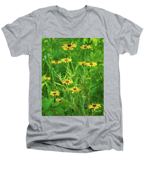 Men's V-Neck T-Shirt featuring the photograph Collection In The Clearing by Bill Pevlor