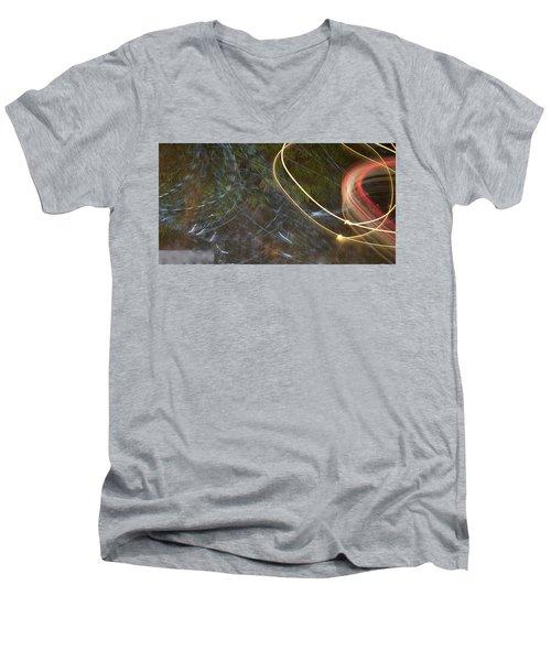 Colliding Worlds  Men's V-Neck T-Shirt