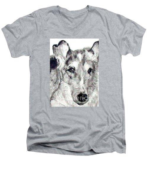 Collie Smooth Lover Men's V-Neck T-Shirt