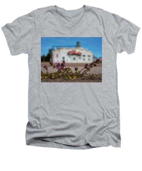 Collyer Sidewalk Blooms Men's V-Neck T-Shirt by Darren White