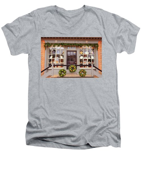 Colonial Commerce Men's V-Neck T-Shirt by Lou Ford