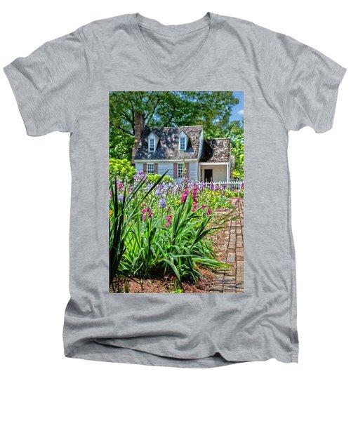 Colonial Garden1 Men's V-Neck T-Shirt