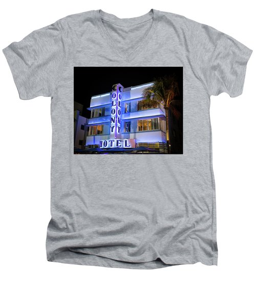 Colony Hotel Men's V-Neck T-Shirt