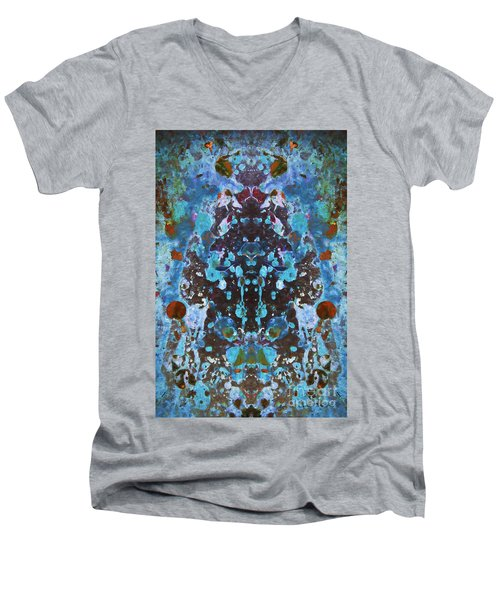 Color Abstraction Iv Men's V-Neck T-Shirt
