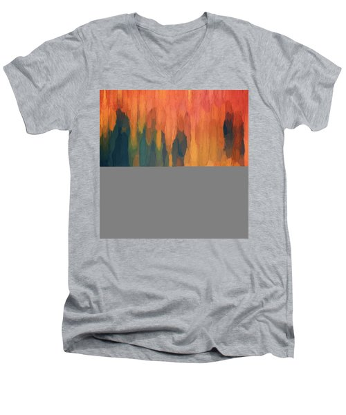 Color Abstraction L Sq Men's V-Neck T-Shirt by David Gordon
