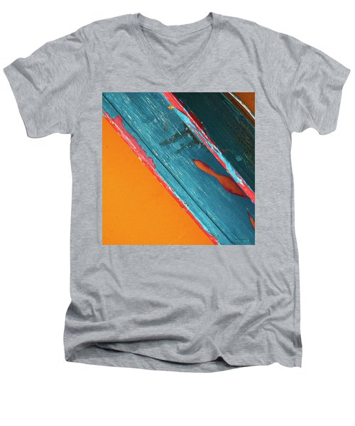Color Abstraction Lxii Sq Men's V-Neck T-Shirt by David Gordon
