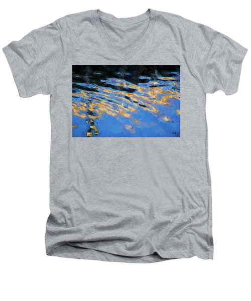 Men's V-Neck T-Shirt featuring the photograph Color Abstraction Lxiv by David Gordon
