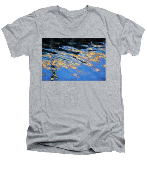 Color Abstraction Lxiv Men's V-Neck T-Shirt by David Gordon