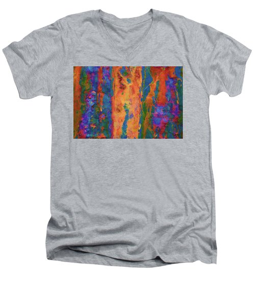 Men's V-Neck T-Shirt featuring the photograph Color Abstraction Lxvi by David Gordon