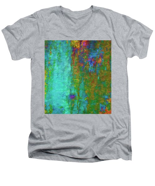 Color Abstraction Lxvii Men's V-Neck T-Shirt