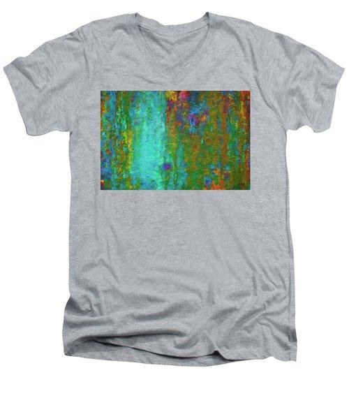 Color Abstraction Lxvii Men's V-Neck T-Shirt
