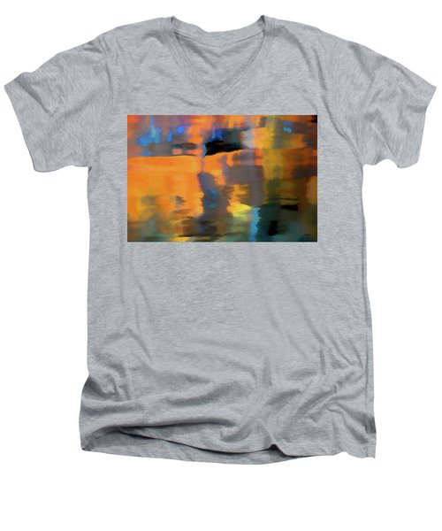 Men's V-Neck T-Shirt featuring the photograph Color Abstraction Lxxii by David Gordon