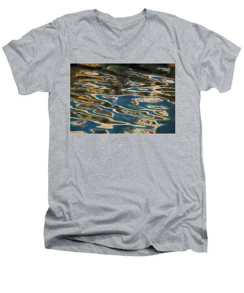 Color Abstraction Lxxv Men's V-Neck T-Shirt