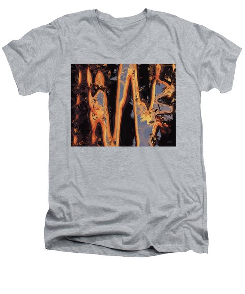 Color Abstraction Xli Men's V-Neck T-Shirt