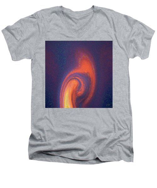 Color Abstraction Xlii Men's V-Neck T-Shirt