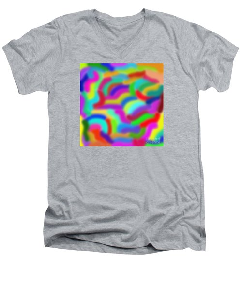 Color Around Men's V-Neck T-Shirt