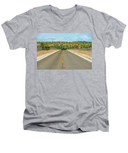 Color At Roads End Men's V-Neck T-Shirt