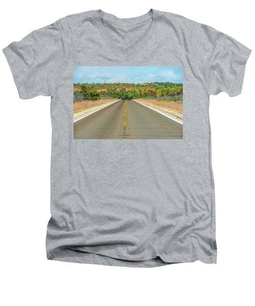 Color At Roads End Men's V-Neck T-Shirt