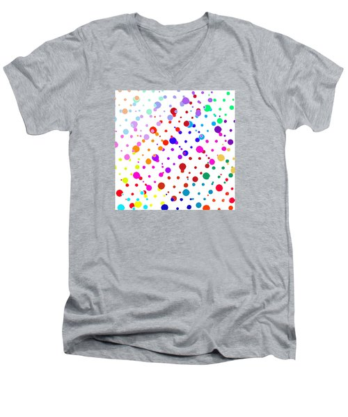 Color Cells Men's V-Neck T-Shirt