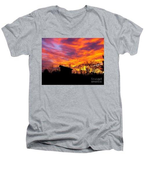 Color In The Sky Men's V-Neck T-Shirt