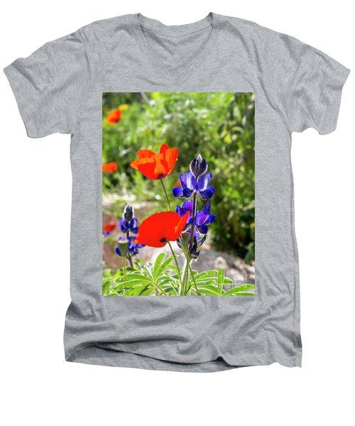 Color Mix 02 Men's V-Neck T-Shirt