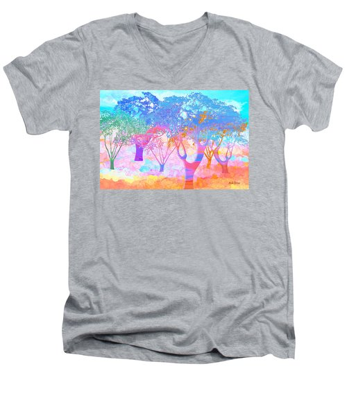 Color My World Men's V-Neck T-Shirt