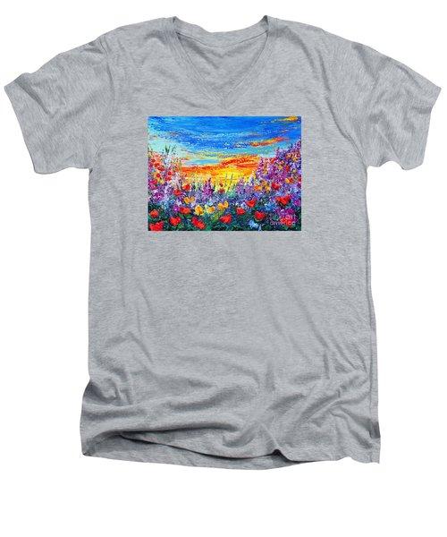 Color My World Men's V-Neck T-Shirt