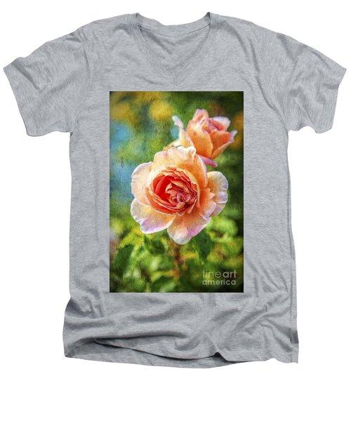 Color Of The Rose Men's V-Neck T-Shirt