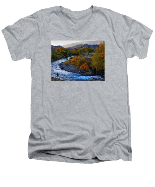Color On The Fly Men's V-Neck T-Shirt