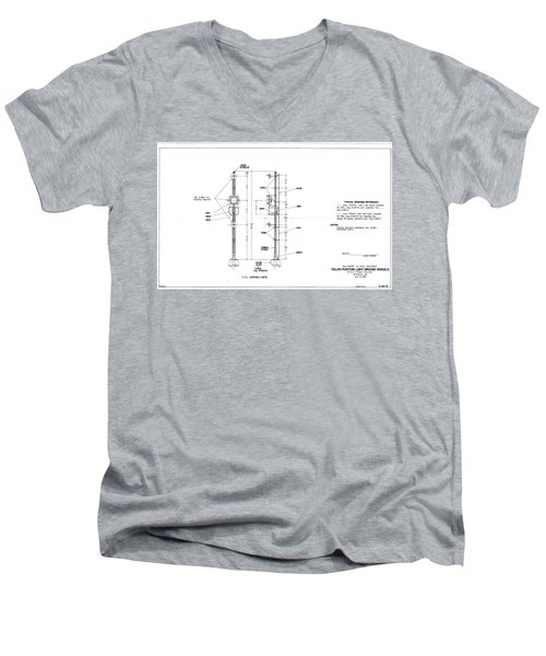 Color Position Light Ground Signals Men's V-Neck T-Shirt