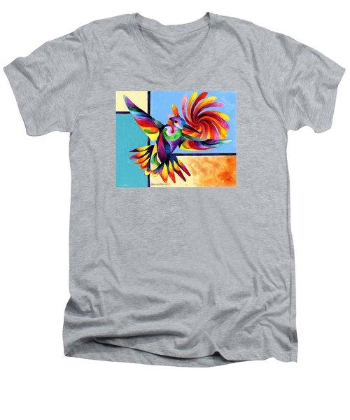 Color Spinner Men's V-Neck T-Shirt