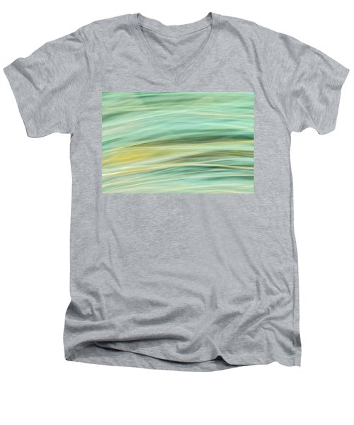 Color Swipe Men's V-Neck T-Shirt