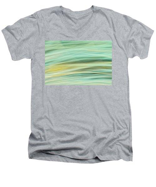 Color Swipe Men's V-Neck T-Shirt