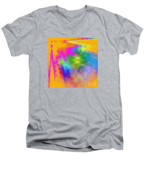 Color Towers Men's V-Neck T-Shirt