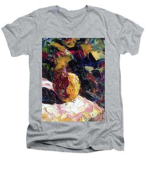 Color Volant Men's V-Neck T-Shirt by Roxy Rich