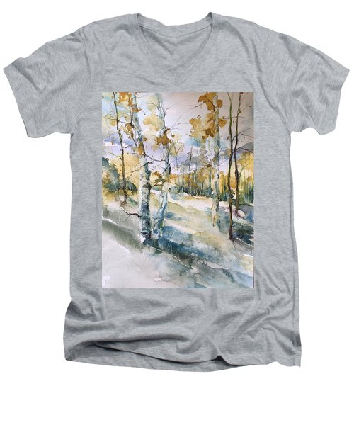 Colorado Aspens And Cottonwoods Men's V-Neck T-Shirt by Robin Miller-Bookhout