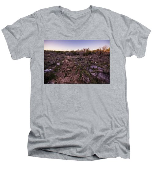 Colorado Bend State Park Gorman Falls Trail #1 Men's V-Neck T-Shirt by Micah Goff