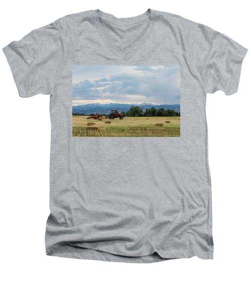 Men's V-Neck T-Shirt featuring the photograph Colorado Country by James BO Insogna