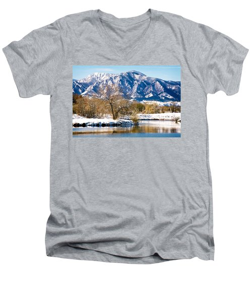 Colorado Flatirons 2 Men's V-Neck T-Shirt