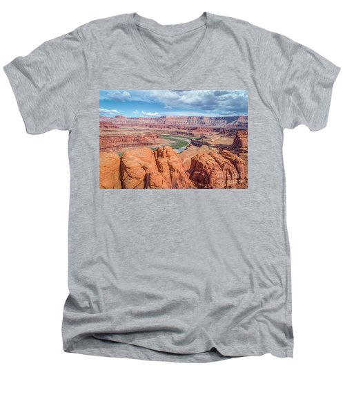 Colorado River And Chicken Corner Trail  Men's V-Neck T-Shirt