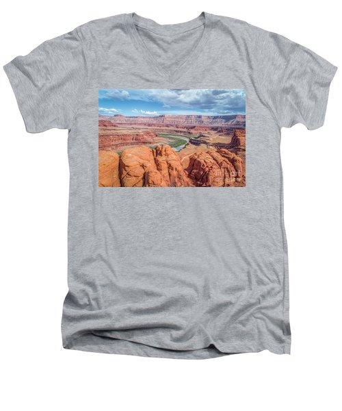 Colorado River And Chicken Corner Trail  Men's V-Neck T-Shirt