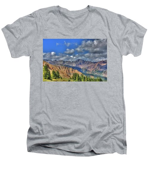 Colorado Rocky Mountains Men's V-Neck T-Shirt