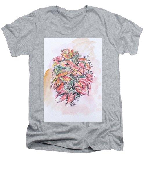 Colored Pencil Flowers Men's V-Neck T-Shirt