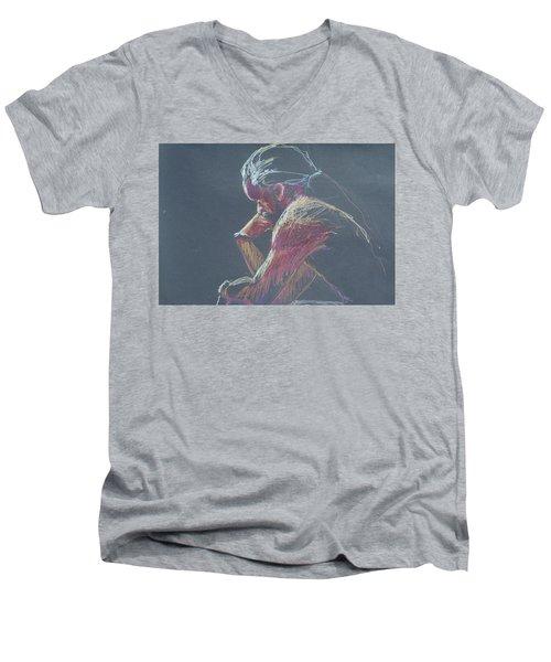 Colored Pencil Sketch Men's V-Neck T-Shirt