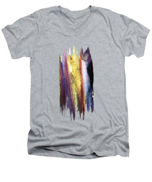 Colorfall Men's V-Neck T-Shirt by AugenWerk Susann Serfezi
