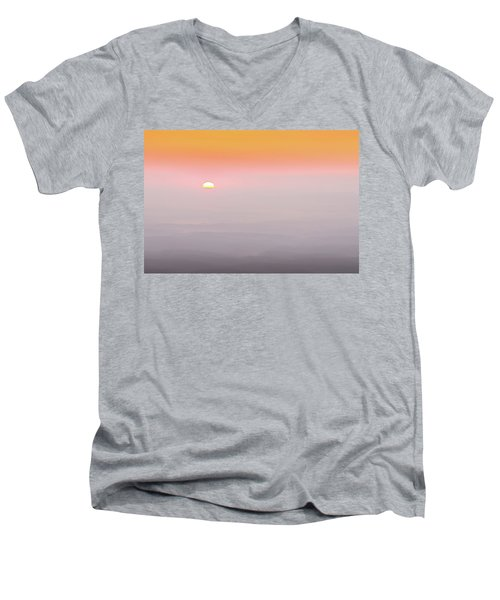 Colorful And Smoky Carolina Sunrise Men's V-Neck T-Shirt