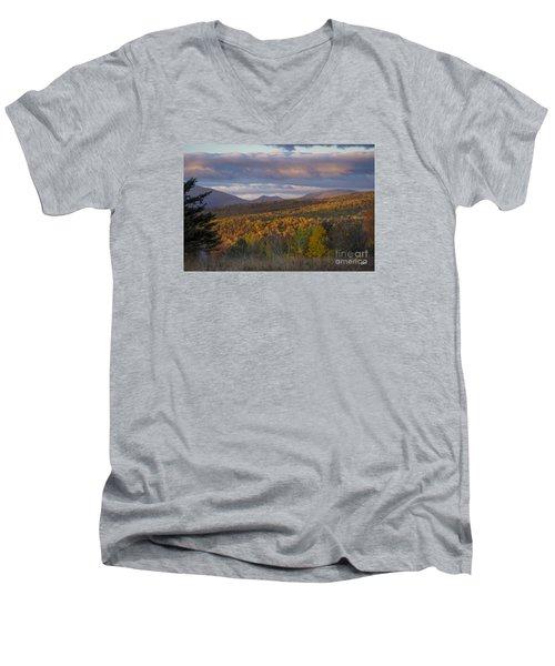 Colorful Autumn Men's V-Neck T-Shirt by Alana Ranney