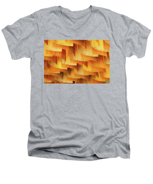 Colorful Bamboo Ceiling- China Men's V-Neck T-Shirt