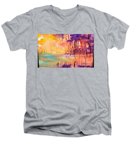 Colorful Bayou Men's V-Neck T-Shirt