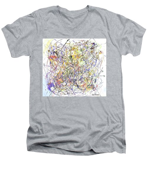 Colorful Blog Men's V-Neck T-Shirt by Lisa Kaiser